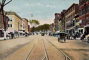 Elm Street Looking North, Manchester, NH