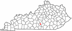Location of Columbia, Kentucky