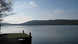 Looking out over windermere lake