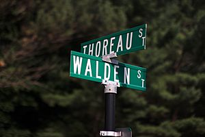 Thoreau and Walden Streets in Concord, Mass