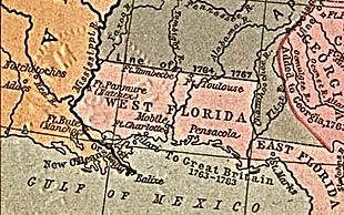 West Florida Map 1767