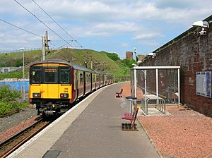 Ardrossan Town station with train