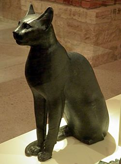 Bastet, a feline goddess of ancient Egyptian religion who was worshipped at least since the Second Dynasty, Neues Museum, Berlin (8176612257)
