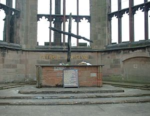 Coventry Cathedral burnt cross