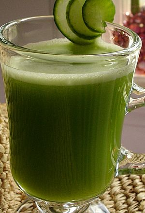 Cucumber celery apple juice