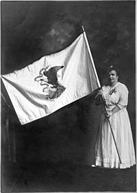 Ella Park Lawerence and the Illinois State Flag