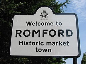 Havering romford welcome sign