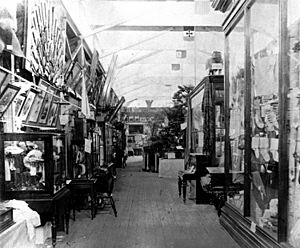StateLibQld 1 110220 Fine Arts on display at the first Queensland Intercolonial Exhibition, Brisbane, 1876
