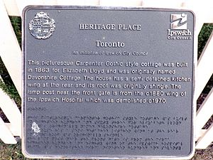 Toronto plaque, Ipswich, Queensland