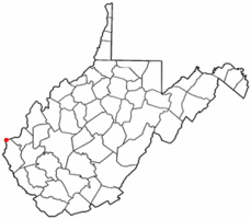 Location of Kenova, West Virginia