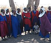 Maasai women and children