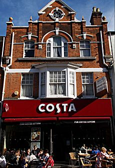 Sutton, Surrey, Greater London - Costa Coffee bar building