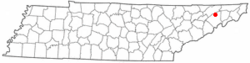 Location of Baileyton, Tennessee