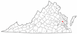 Location of West Point, Virginia