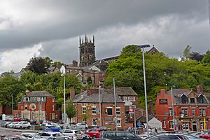 View of Macclesfield from Macclesfield train station 2014