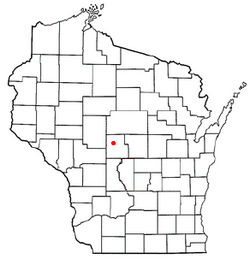Location of Richfield, Wood County, Wisconsin