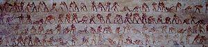 Beni Hassan tomb 15 wrestling detail