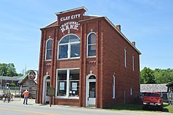 The historic Clay City National Bank Building