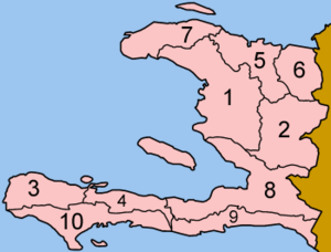 Haiti departments numbered
