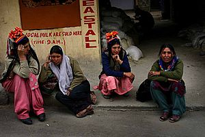 Kashmir Ladakh women in local costume