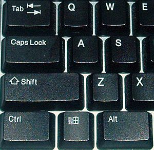 Keyboard-left keys