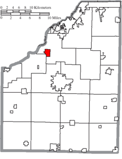 Location of Haskins in Wood County