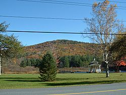 Adams Mountain, with the Village Green and Mill Pond in the foreground