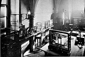Weights and Measures room at the Jewel Tower, 1897