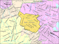 Census Bureau map of Madison, New Jersey