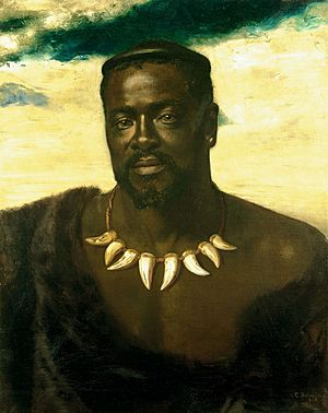 Cetshwayo, King of the Zulus (d. 1884), Carl Rudolph Sohn, 1882