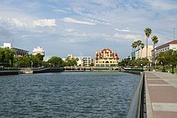 Downtown Stockton's waterfront in June 2013.