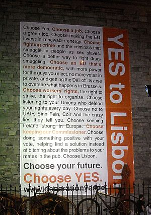 Irish Referendum Lisbon Treaty 2 Vote Yes