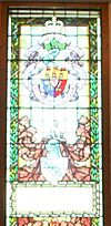 Memorial Stained Glass Window, Douglass Burr Plumb, Memorial Stairwell, Mackenzie Building, Royal Military College of Canada.jpg