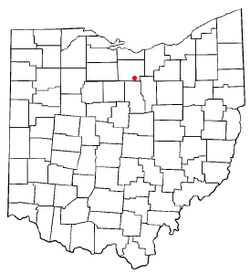 Location of Greenwich, Ohio