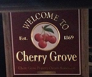 Welcome to Cherry Grove sign