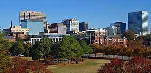 Fallskyline of Columbia SC from Arsenal Hill