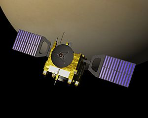 Venus Express in orbit (crop)