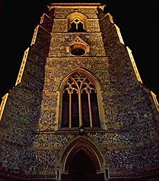 All Saints Church, Benhilton, by night, SUTTON, Surrey, Greater London