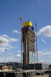 Beetham Tower, 301 Deansgate - under construction - geograph.org.uk - 48008