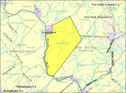 Census Bureau map of Kingwood Township, New Jersey
