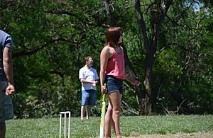 Cricketers on Springbank Island