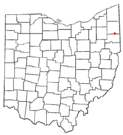 Location of McDonald, Ohio