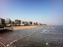 Riccione seafront north side
