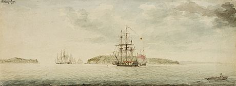 SLNSW 826105 Botany Bay New South Wales ca 1789 watercolour by Charles Gore