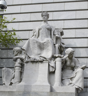 Statues, Federal Building and U.S. Courthouse, Providence, Rhode Island LCCN2010718934