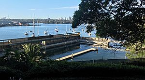 Hilltop view of the Dawn Fraser Baths