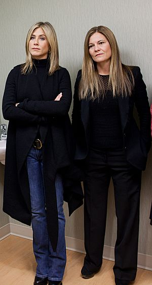 Jennifer Aniston and Kristin Hahn