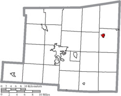 Location of Danville in Knox County