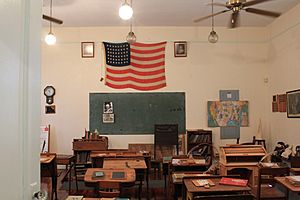 Agriculture Vocational Building - Front of School Room - 48 Star USA Flag