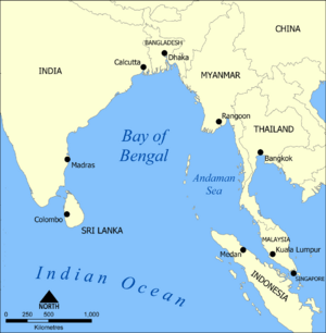 Bay of Bengal map